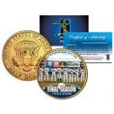 YANKEE STADIUM FINAL SEASON 2008 Kennedy JFK Half Dollar 24K Gold Plated US Coin