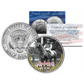SEABISCUIT - An American Legend - Thoroughbred Racehorse Colorized JFK Half Dollar U.S. Coin