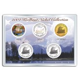 2004 KEELBOAT NICKEL Westward Journey 5-Coin US Set - P&D - Hologram - Colorized - 24K Gold Plated