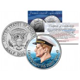 Lieutenant JOHN F KENNEDY of U.S. Navy 1941-45 Colorized JFK Half Dollar U.S. Coin
