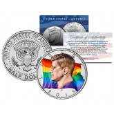 RAINBOW FLAG Colorized 2015 JFK Half Dollar U.S. Coin GAY PRIDE Lesbian LGBT Love