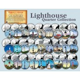 Historic American - LIGHTHOUSES - Colorized US Statehood Quarters US 27-Coin Complete Set