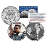 MALCOLM X Colorized JFK Half Dollar U.S. 2-Coin Set with Martin Luther King