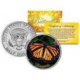MONARCH BUTTERFLY JFK Kennedy Half Dollar U.S. Colorized Coin