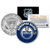 EDMONTON OILERS NHL Hockey JFK Kennedy Half Dollar U.S. Coin - Officially Licensed