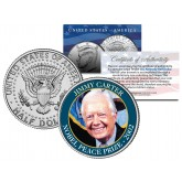 JIMMY CARTER - 2002 NOBEL PEACE PRIZE - Colorized JFK Kennedy Half Dollar U.S. Coin