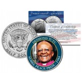 DESMOND TUTU - 1984 NOBEL PEACE PRIZE - Colorized JFK Kennedy Half Dollar U.S. Coin