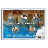 BARACK OBAMA - Life & Times - 24K Gold Plated Statehood Hawaii Quarter US 5-Coin Set