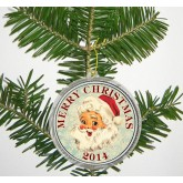"MERRY CHRISTMAS "" Santa Claus "" 2014 JFK Kennedy Colorized Half Dollar US Coin in Ornament Capsule"