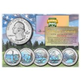 2011 America The Beautiful HOLOGRAM Quarters U.S. Parks 5-Coin Set with Capsules