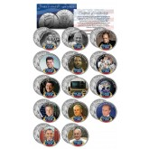 PERSON OF THE YEAR - Colorized JFK Half Dollar U.S. 14-Coin Set