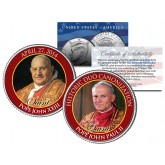 SAINTS - Pope John XXIII & Pope John Paul II - DOUBLE CANONIZATION - 2014 JFK Kennedy US Colorized Coin