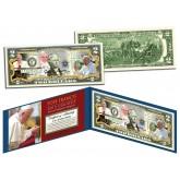 POPE FRANCIS - 2015 USA Visit - Colorized $2 Bill U.S. Genuine Legal Tender