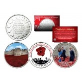 TOWER OF LONDON REMEMBERS THE FIRST WORLD WAR - Colorized Set of 3 Royal Canadian Mint Medallion Coins