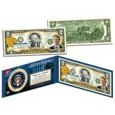 JIMMY CARTER * 39th U.S. President * Colorized Presidential $2 Bill U.S. Genuine Legal Tender