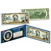 WILLIAM McKINLEY * 25th U.S. President * Colorized Presidential $2 Bill U.S. Genuine Legal Tender