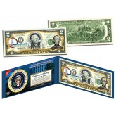 JOHN TYLER * 10th U.S. President * Colorized Presidential $2 Bill U.S. Genuine Legal Tender