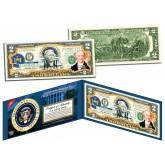 MARTIN VAN BUREN * 8th U.S. President * Colorized Presidential $2 Bill U.S. Genuine Legal Tender
