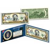 GEORGE WASHINGTON * 1st U.S. President * Colorized Presidential $2 Bill U.S. Genuine Legal Tender