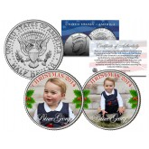 PRINCE GEORGE - 2014 CHRISTMAS - Colorized JFK Kennedy Half Dollar U.S. 2-Coin Set
