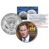 PRINCE HARRY Colorized JFK Kennedy Half Dollar U.S. Coin - PRINCE HENRY OF WALES
