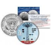 1939 NY World's Fair - LIFE SAVERS PARACHUTE JUMP - Colorized JFK Half Dollar Coin