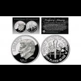 First-Ever RONALD REAGAN Tribute .999 Genuine Fine Silver Plated Commemorative Dime