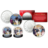 THE BRITISH MONARCHY * Princess Diana & The Royal Family *  THEN & NOW Set of 2 Royal Canadian Mint Medallion Coins