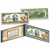 ILLINOIS $2 Statehood IL State Two-Dollar U.S. Bill - Genuine Legal Tender