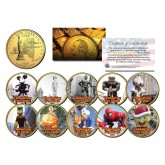 Macy's THANKSGIVING DAY PARADE New York Quarters US 10-Coin Set 24K Gold Plated