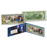 DONALD TRUMP 45th President * LIFE & TIMES * Colorized Genuine Legal Tender U.S. $2 Bill Currency