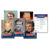 Donald Trump 45th President of the United States OFFICIAL * Life & Times * 5-Card Premium Trading Card Set (Lot of 3 Sets)