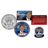 DONALD J. TRUMP Limited Colorized JFK Kennedy Half Dollar U.S. Coin ** Limited Edition of 500 **