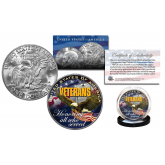 VETERANS U.S.A. Honoring all who Served Official Legal Tender IKE Eisenhower Dollar U.S. Coin