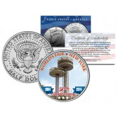 WORLD'S FAIR - 50th Anniversary - NEW YORK 1964-2014 Observation Towers JFK Half Dollar Coin