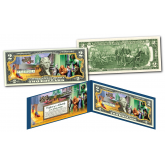 WIZARD OF OZ  * YELLOW BRICK ROAD * Officially Licensed Genuine Legal Tender U.S. $2 Bill