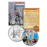 WORLD TRADE CENTER - 11th Anniversary - NEVER FORGET 9/11 NY State Quarter US Coin WTC