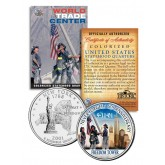 WORLD TRADE CENTER - 6th Anniversary - FREEDOM TOWER 9/11 NY State Quarter US Coin WTC