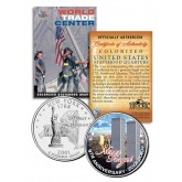 WORLD TRADE CENTER - 9th Anniversary - NEVER FORGET 9/11 NY State Quarter US Coin WTC