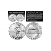 TRIBUTE 1943 World War II Steelie PENNY Coin Clad in Genuine .999 Fine Silver (Lot of 3)