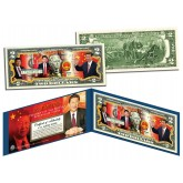 XI JINPING * President of the People's Republic of China * Colorized $2 Bill U.S. Genuine Legal Tender