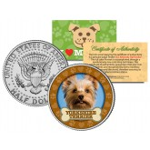 YORKSHIRE TERRIER Dog JFK Kennedy Half Dollar U.S. Colorized Coin