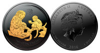 Black Ruthenium Monkey Coin
