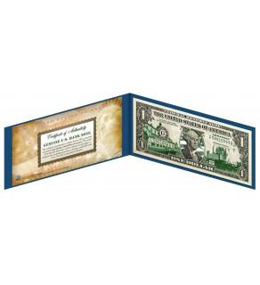 "ARKANSAS State $1 Bill - Genuine Legal Tender - U.S. One-Dollar Currency "" Green """