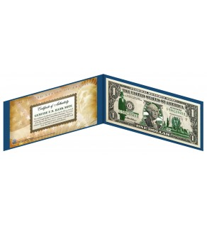 "ILLINOIS State $1 Bill - Genuine Legal Tender - U.S. One-Dollar Currency "" Green """