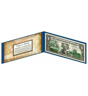 "MAINE State $1 Bill - Genuine Legal Tender - U.S. One-Dollar Currency "" Green """
