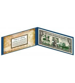 "MASSACHUSETTS State $1 Bill - Genuine Legal Tender - U.S. One-Dollar Currency "" Green """
