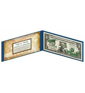 "MICHIGAN State $1 Bill - Genuine Legal Tender - U.S. One-Dollar Currency "" Green """