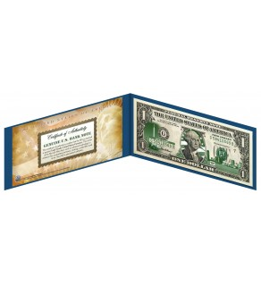 """NEW JERSEY State $1 Bill - Genuine Legal Tender - U.S. One-Dollar Currency """" Green """""""
