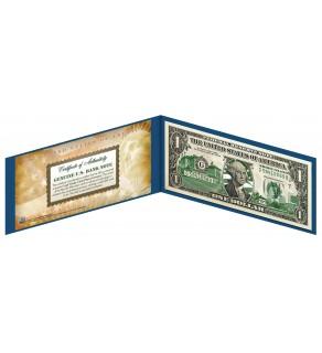 "RHODE ISLAND State $1 Bill - Genuine Legal Tender - U.S. One-Dollar Currency "" Green """